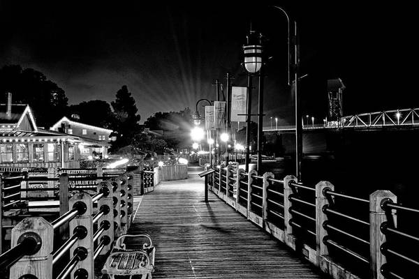 Wall Art - Photograph - Riverwalk At Night - Wilmington North Carolina by Brendan Reals
