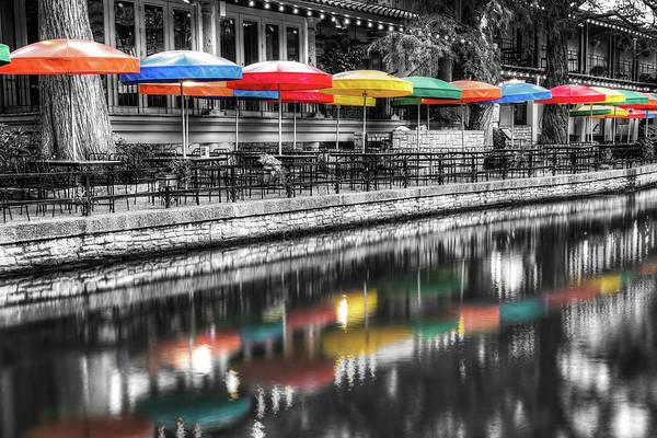 Photograph - Riverwalk Color - San Antonio Texas Art by Gregory Ballos