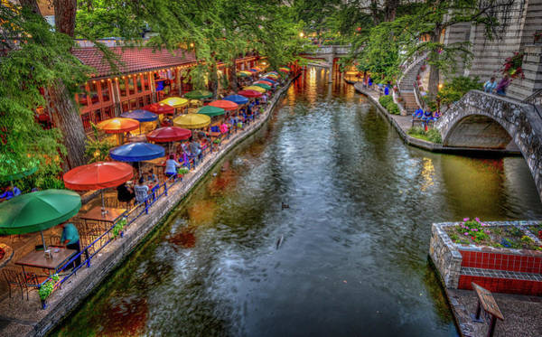Photograph - Riverwalk San Antonio Texas by Michael Ash