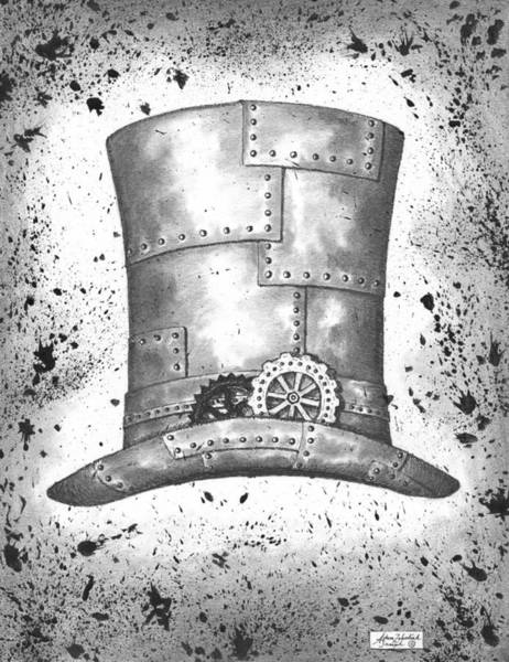 Top Gear Wall Art - Drawing - Riveting Top Hat by Adam Zebediah Joseph