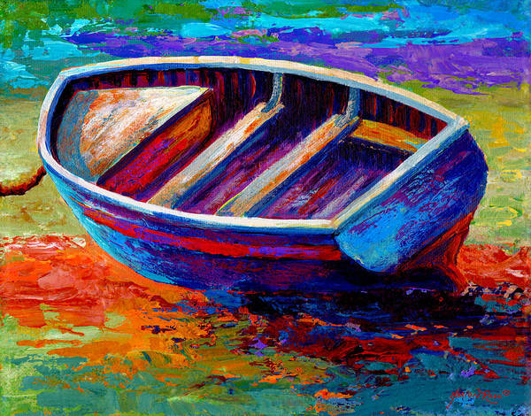Seashore Painting - Riviera Boat IIi by Marion Rose