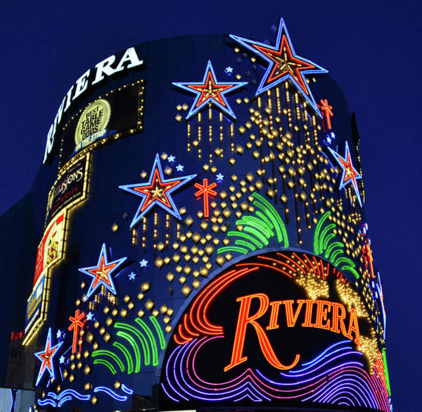 Wall Art - Photograph - Riviera Sign Las Vegas by David Lee Thompson