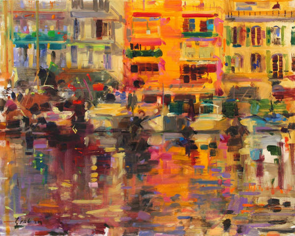 Reflecting Painting - Riviera Summer by Peter Graham