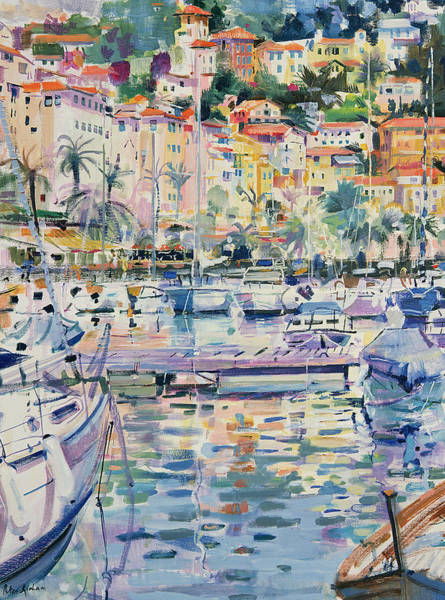 Moor Painting - Riviera Yachts by Peter Graham