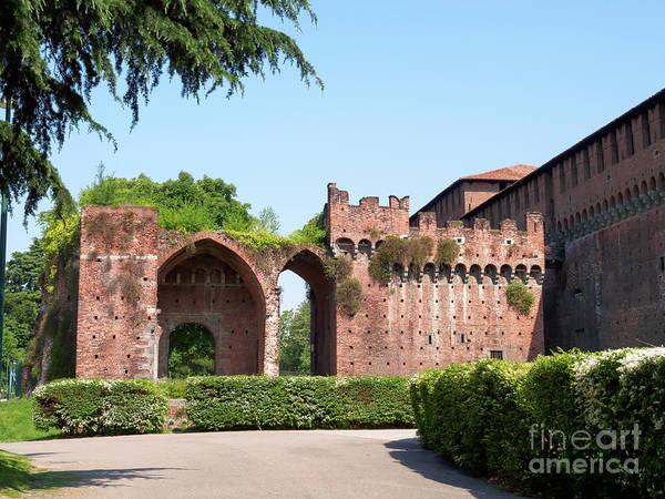 Wall Art - Photograph - Rivillino De Santo Spirito Entrance To Sforza Castle Milan by Louise Heusinkveld