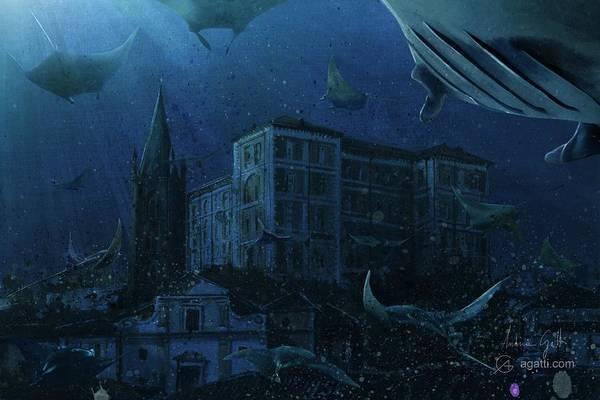 Ocean Scape Digital Art - Rivoli by Andrea Gatti