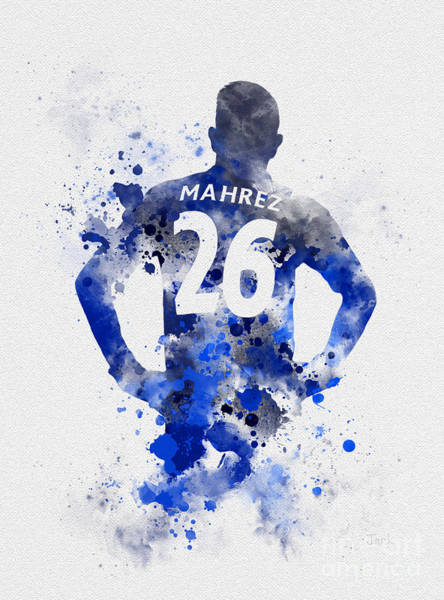 Premier League Wall Art - Mixed Media - Riyad Mahrez by My Inspiration