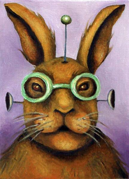 Painting - Rizmo The Rabbot by Leah Saulnier The Painting Maniac