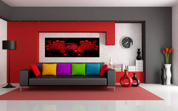 Digital Art - Rk In Modern Interior Design by Robert G Kernodle