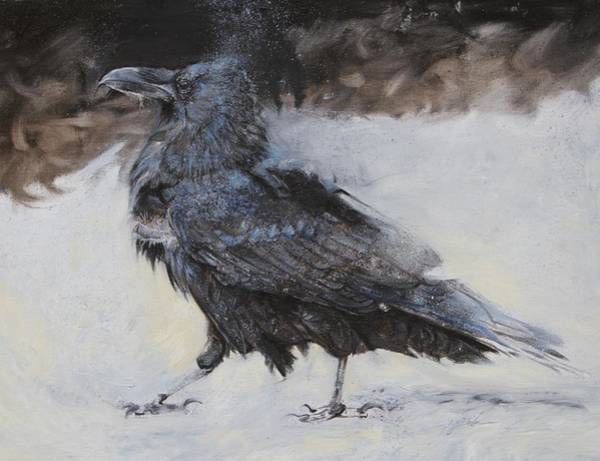 Smaug Painting - Roac The Old Raven Of Ravenhill by Susie Gordon
