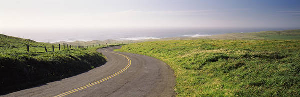 Marin Photograph - Road Along The Coast, Point Reyes by Panoramic Images