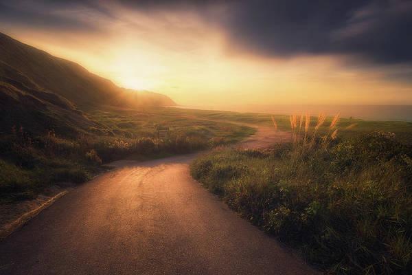 Photograph - Road Down To Azkorri by Mikel Martinez de Osaba