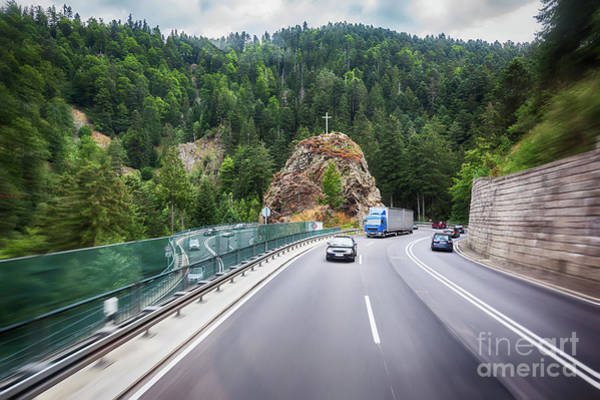 Photograph - road in Black Forest region by Ariadna De Raadt