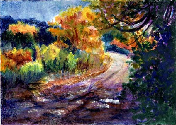 Atc Painting - Road In New Mexico by Jimmie Trotter