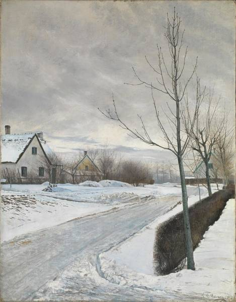 Laurits Andersen Ring Painting - Road In The Village Of Baldersbrnde by Laurits Andersen Ring