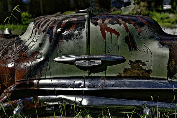 Clunker Wall Art - Photograph - Road Kill  by Dennis Baswell