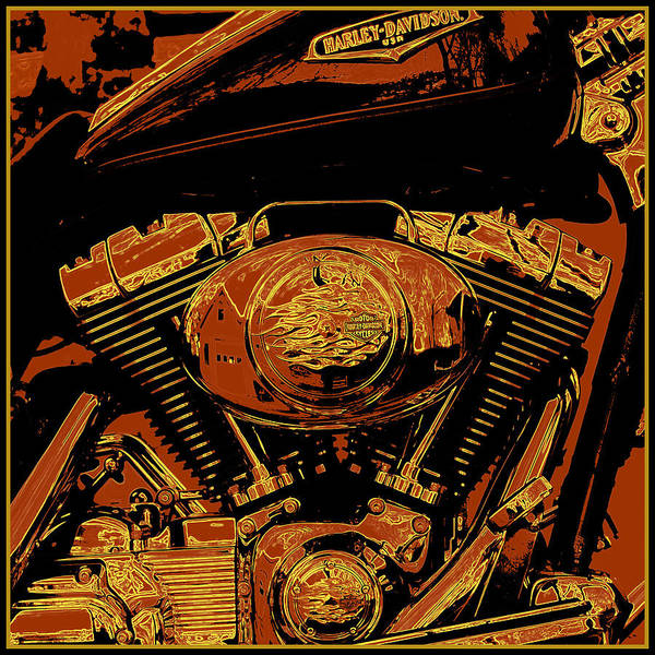Harley Davidson Painting - Road King by Gary Grayson
