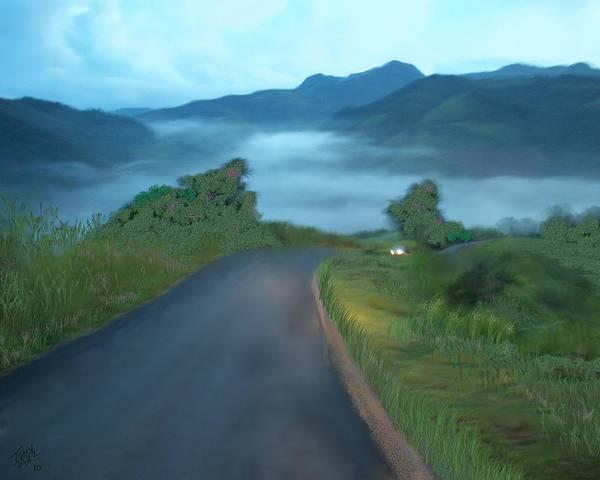 Digital Art - Road Less Traveled by Tony Rodriguez
