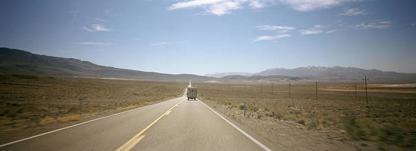 Trailer Photograph - Road Passing Through A Landscape, Death by Panoramic Images