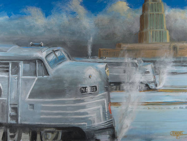 Lightening Painting - Road Power At Buffalo by Christopher Jenkins
