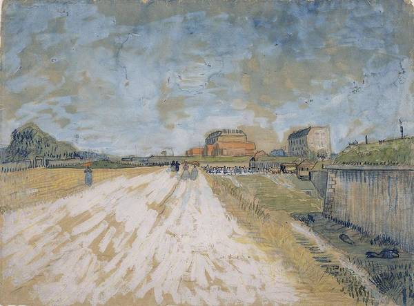 Painting - Road Running Beside The Paris Ramparts Paris, June - September 1887 Vincent Van Gogh 1853  1890 by Artistic Panda