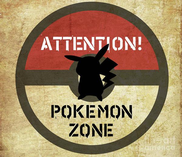 New Trend Digital Art - Road Signage Pokemon Zone by Irina Effa