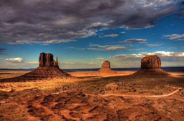 Wall Art - Photograph - Road Through Monument Valley by William Wetmore