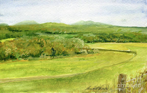 Painting - Road Through Vermont Field by Laurie Rohner