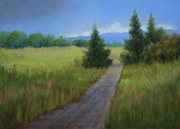 Wall Art - Painting - Road To Blue Mountain by Paula Ann Ford