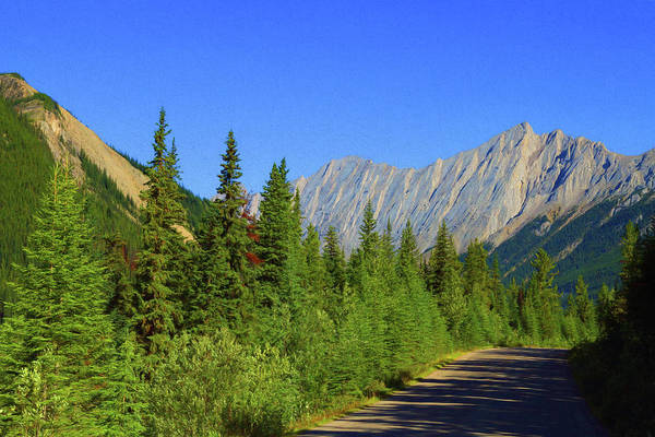 Photograph - Road To Colin Mountain Range, Alberta Canada by Ola Allen