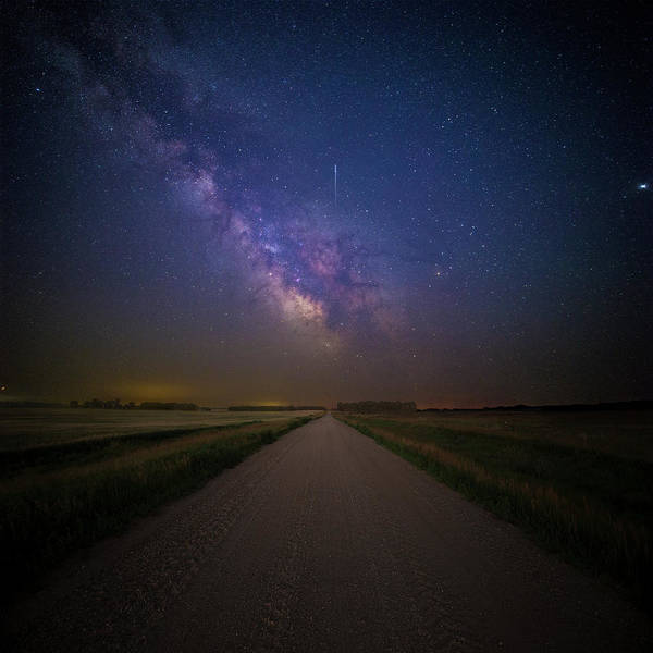 Gravel Road Photograph - Road To Cosmos  by Aaron J Groen