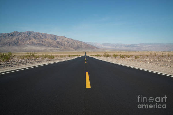 One Way Road Photograph - Road To Death Valley by Michael Ver Sprill