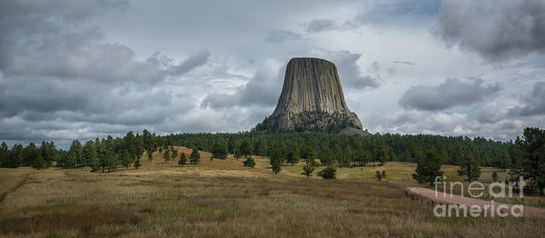 Close Encounters Wall Art - Photograph - Road To Devils Tower Panorama by Michael Ver Sprill