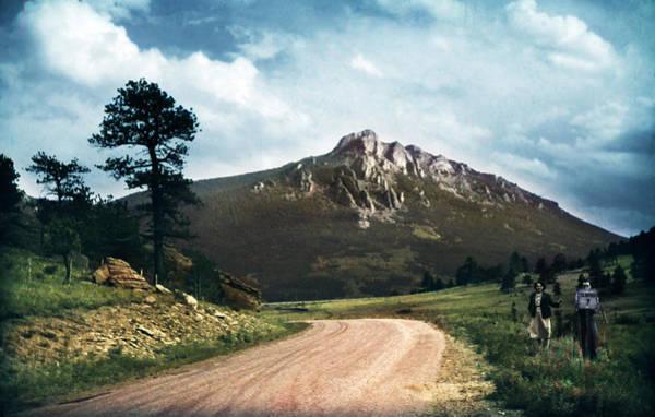 Photograph - Road To Estes Park Colorado 1950 by Marilyn Hunt