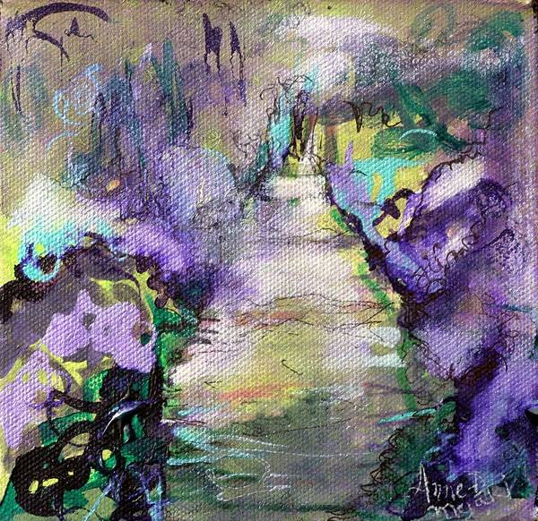 Painting - Road To Euphoria by Anne-D Mejaki - Art About You productions