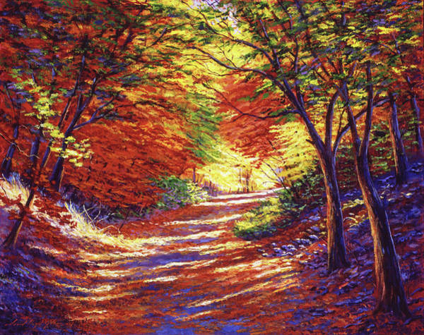 Wall Art - Painting -  Road To Golden Light by David Lloyd Glover