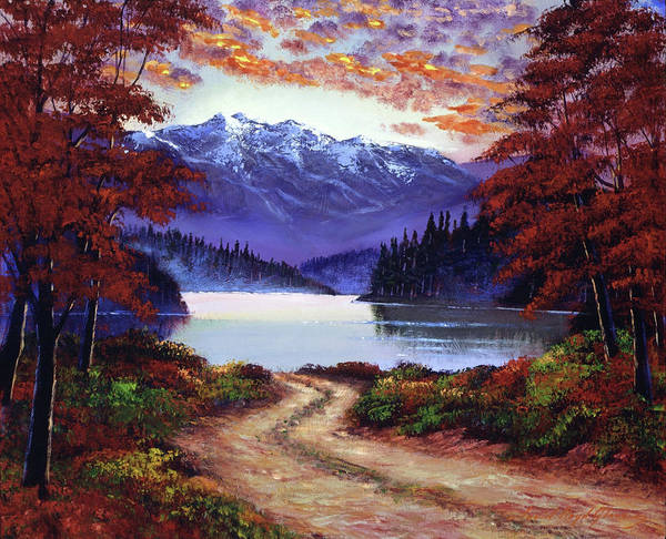 Painting - Road To Green Lake by David Lloyd Glover