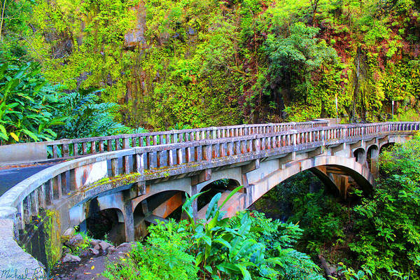 Ocean Wall Art - Photograph - Road To Hana Bridge by Michael Rucker