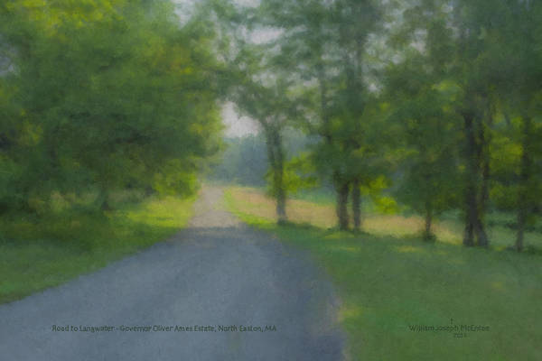 Painting - Road To Langwater Estate by Bill McEntee