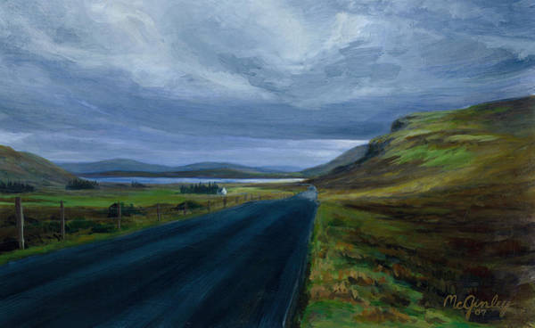 Painting - Road To Lough Barra Donegal by Laurie McGinley
