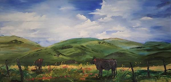 Painting - Road To Melrose, Montana         32 by Cheryl Nancy Ann Gordon