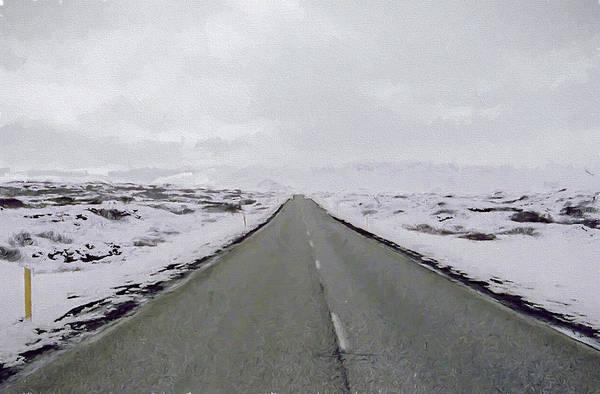 Icelandic Digital Art - Road To Nowhere by Roy Pedersen