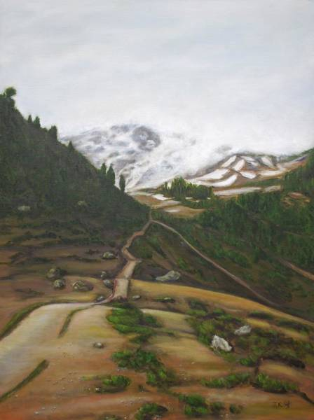 Wall Art - Painting - Road To Paradise by Jennifer Kwon