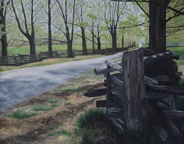 Toledo Painting - Road To Phillipsville by Phil Chadwick