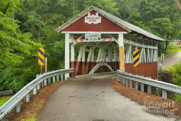 Garrett County Wall Art - Photograph - Road To The Burkholder Covered Bridge by Adam Jewell