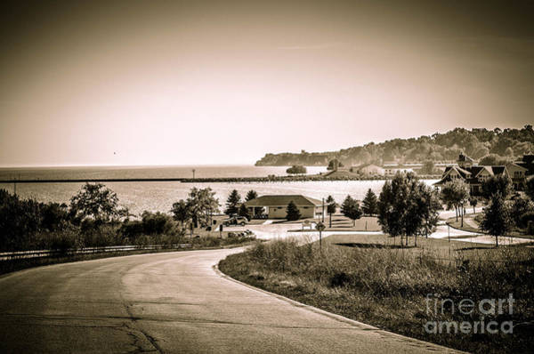 Wall Art - Photograph - Road To The Harbor - Lake Michigan by Mary Machare