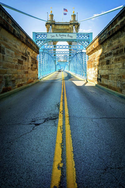 Photograph - Road To The John A. Roebling Bridge - Cincinnati Ohio by Gregory Ballos