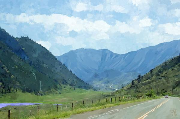 Fence Post Digital Art - Road To The Valley by Debra Baldwin
