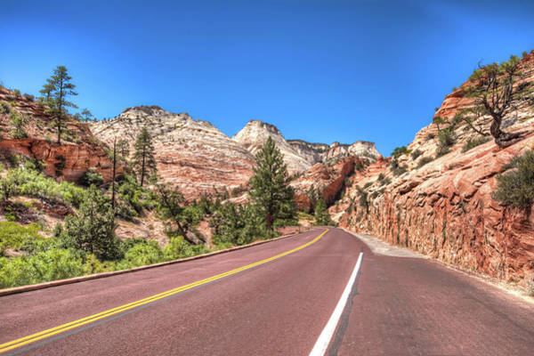 Photograph - Road To Zion by Brent Durken