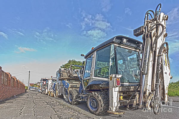 Heavy Duty Truck Wall Art - Photograph - Road Work Machines Hdr by Terri Waters